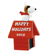 Hallmark Peanuts Snoopy Flying Ace on Doghouse Happy Holidays Christmas Ornament