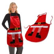 AGM Novelty Santa Cooking Baking Kitchen Christmas Decoration Unisex Chef Red Apron