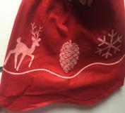 Christmas House Tree Skirt Reindeer & Cones & Snowflake or Joy