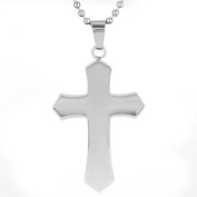 Men's Polished Stainless Steel Mediaeval Cross