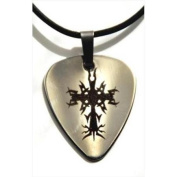 Forgiven Jewellery 238792 Necklace Tribal Cross Guitar Pick 46cm
