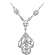 Her Special Day Jewellery CZ Sterling Silver Necklace