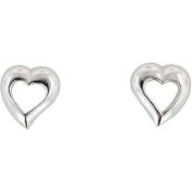 Hot Silver Sterling Silver Heart Stud