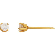 Home Ear Piercing Kit with 24kt Gold-Plated Stainless Steel 3mm CZ Earring