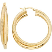 Dolce Vita 18kt Gold-Tone Double Textured Hoop Earrings