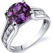 Oravo 2.75 Carat T.G.W. Simulated Alexandrite Solitaire Rhodium over Sterling Silver Ring