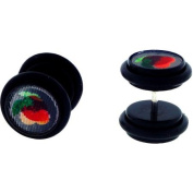 Body Magic Stainless Steel Illusion 3D Cherry and Strawberry Hologram Plugs