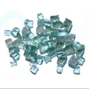 0.6cm . Reflective Arctic Flame Glass in Forest Green