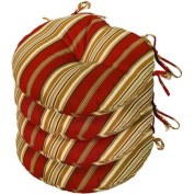 Greendale Home Fashions 38cm Round Outdoor Bistro Chair Cushion, Set of Four, Roma Stripe