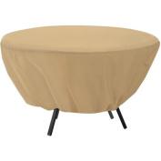 Classic Accessories Terrazzo Patio Table Cover, Round, Sand, 58202-EC