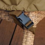 Classic Accessories Veranda Square Table and Chair Cover, Medium, Pebble/Bark/Earth