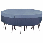 Classic Accessories Belltown Round Table and Chair Cover, Medium, Skyline Blue