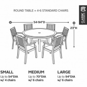 Classic Accessories Belltown Round Table and Chair Cover, Medium, Sidewalk Grey