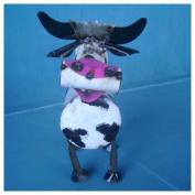 Rustic Arrow Small Spring Neck Cow Statue