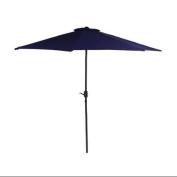 2.3m Outdoor Patio Market Umbrella with Hand Crank - Navy Blue