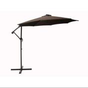 3m Outdoor Patio Off-Set Crank and Tilt Umbrella - Brown