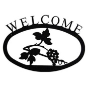Village Wrought Iron WEL-157-S Small Welcome Sign-Plaque - Grapevine