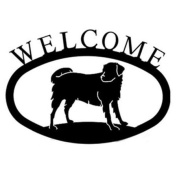 Village Wrought Iron WEL-105-S Small Welcome Sign-Plaque - Labrador - Dog