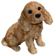 Michael Carr Cocky the Cocker Spaniel Puppy Statue - Brown