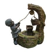 Alpine Polyresin Boy Fetching Water
