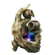 Hi-Line Gift Ltd. Fibre and Resin Tree Trunk Fountain
