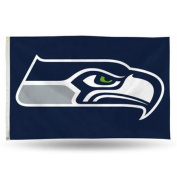 Seattle Seahawks Official NFL 3ftx1.5m Banner Flag by Rico Industries