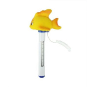 23cm Goldfish Floating Swimming Pool Thermometer with Cord