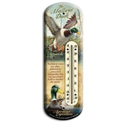 American Expedition Mallard Tin Back Porch Thermometer BTHM-119