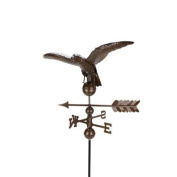 0.9m Polished Chocolate Brown Eagle Outdoor Weathervane