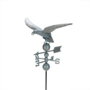 0.9m Weathered Copper Patina Eagle Outdoor Weathervane