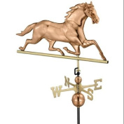 80cm Luxury Polished Copper Galloping Horse Weathervane