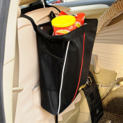 Bao Core / BXT Foldable Waterproof Super Secure Strap Backseat Organiser with Bottom Hook for Driver and Kids Great for Snack Book Hold ing