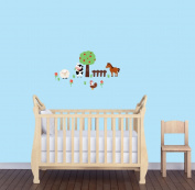 Hourse Decal for Kids Room, Farm Wall Decal, Tree Wall Stickers