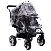 DDLBiz Baby Stroller Rain Covers Waterproof High Landscape Baby Car Shield