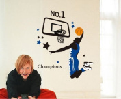 You Are NO.1 He Is Dunking Removable Vinyl Wall Stickers Wall Decal For Nursery Room Kindergarten