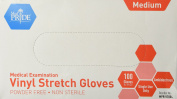 MedPride Powder-Free Stretch Vinyl Exam Gloves, Medium, Box/100