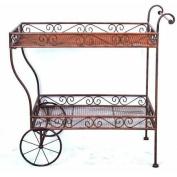 Deer Park Steel Imperial Serving Cart, Natural