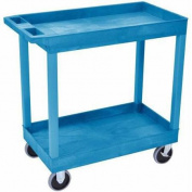 Luxor High Capacity/Heavy Duty Cart with 2 Tub Shelves, Blue