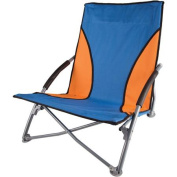 Low Profile Sand Chair, Blue/Orange