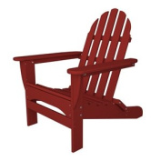 90cm Recycled Earth-Friendly Outdoor Patio Adirondack Chair - Sunset Red
