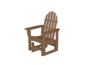 110cm Earth-Friendly Recycled Outdoor Patio Adirondack Glider - Teak Brown