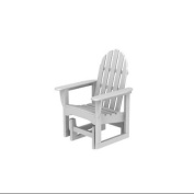 110cm Earth-Friendly Recycled Outdoor Patio Adirondack Glider - White