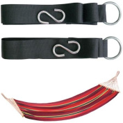 Stansport Bahamas Cotton Hammock With 2 Tree Straps, Red