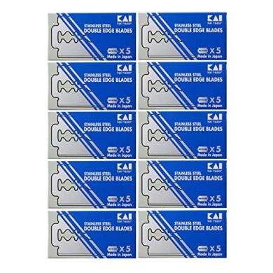 50 KAI Stainless Steel Double Edge Safety Razor Blades