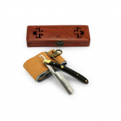 A.P. Donovan - Professional 2.2cm straight Razor - sandalwood handle - with strop