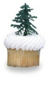 24 ct - Evergreen Trees for Cake and Cupcake Decorating