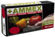 Ammex PGLOVE-500 Food Service Poly Glove, Latex Free, Disposable, Powder Free, Large