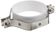 Dixon B24PS-G600 Stainless Steel 304 Sanitary Fitting, Hex Tube Hanger with Sleeve, 15cm Tube OD