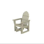 110cm Earth-Friendly Recycled Outdoor Patio Adirondack Glider - Sand Brown