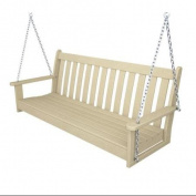 150cm Earth-Friendly Recycled Outdoor Patio Garden Chain Swing - Sand Brown